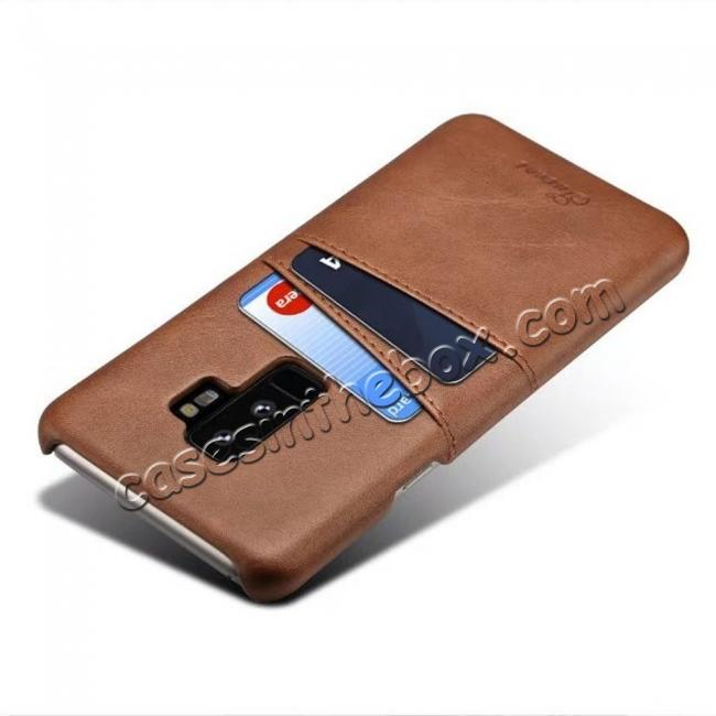 discount wholesale Wallet Style 2 Card Slots Leather Case Back Cover for Samsung Galaxy S9 S9 Plus Note 9 / iPhone XS MAX / XR / XS