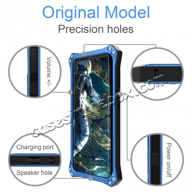 top quality Aluminum Metal Silicone Shockproof Bumper Dropproof Shell Back Cover for Samsung Galaxy S9 - Blue