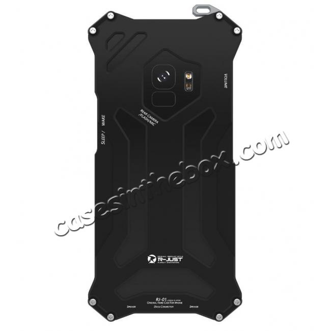 cheap Aluminum Shock Proof Frame Bumper Metal Case Cover for Samsung Galaxy S9 - Black