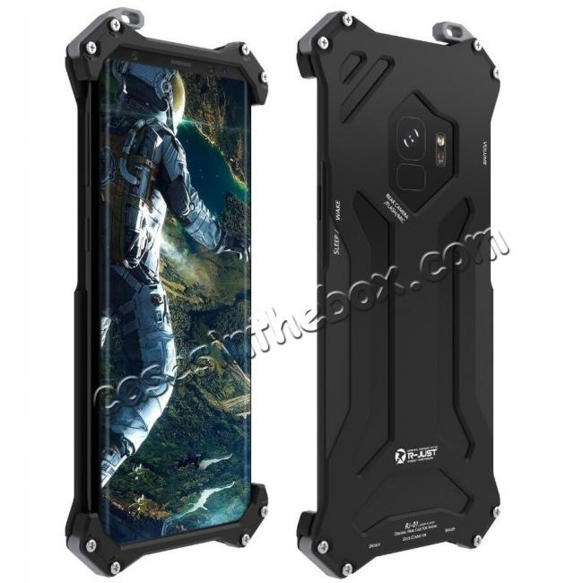 wholesale Aluminum Shock Proof Frame Bumper Metal Case Cover for Samsung Galaxy S9 - Black