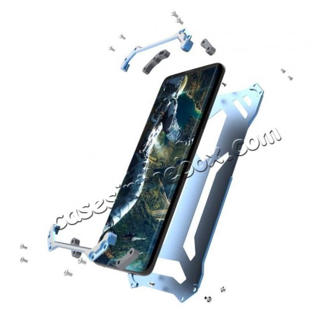 top quality Aluminum Shock Proof Frame Bumper Metal Case Cover for Samsung Galaxy S9 - Blue
