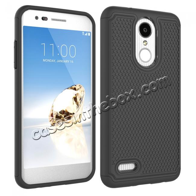 cheap Full Body Hybrid Dual Layer ShockProof Protective Case For LG Tribute Dynasty / Aristo 2 - Black