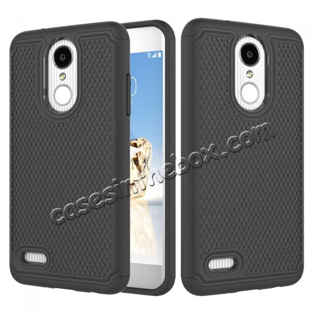 wholesale Full Body Hybrid Dual Layer ShockProof Protective Case For LG Tribute Dynasty / Aristo 2 - Black