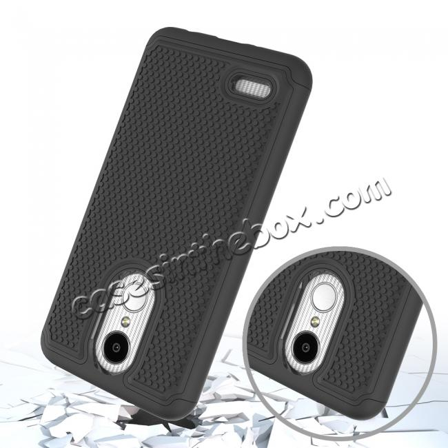 top quality Full Body Hybrid Dual Layer ShockProof Protective Case For LG Tribute Dynasty / Aristo 2 - Black