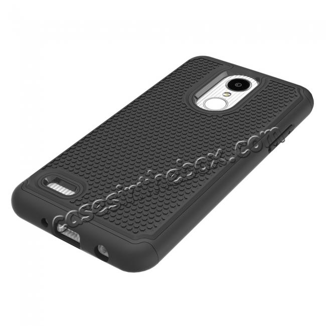 best price Full Body Hybrid Dual Layer ShockProof Protective Case For LG Tribute Dynasty / Aristo 2 - Black