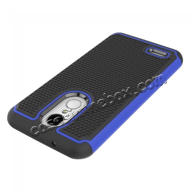 on sale Full Body Hybrid Dual Layer ShockProof Protective Case For LG Tribute Dynasty / Aristo 2 - Dark blue