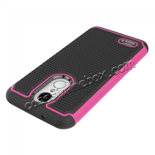 on sale Full Body Hybrid Dual Layer ShockProof Protective Case For LG Tribute Dynasty / Aristo 2 - Hot pink