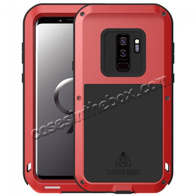 wholesale Heavy Duty Shockproof Dual Layer Bumper Case Cover for Samsung Galaxy S9 Plus - Red