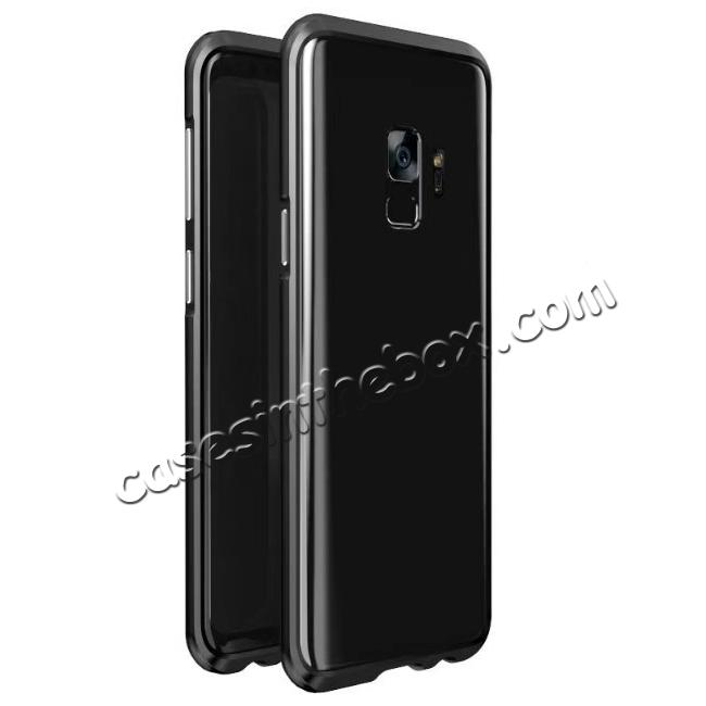 wholesale Shockproof Aluminum Metal Frame Bumper Case for Samsung Galaxy S9 - Black