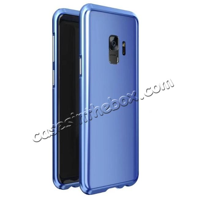 wholesale Shockproof Aluminum Metal Frame Bumper Case for Samsung Galaxy S9 - Blue
