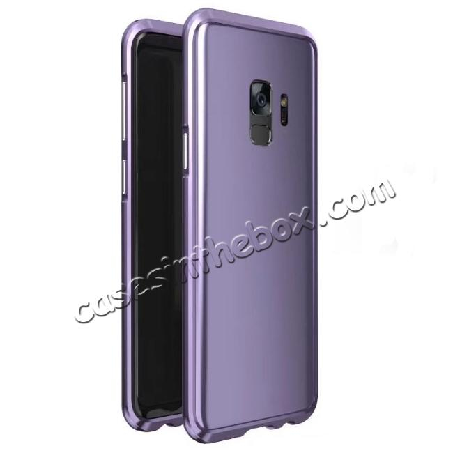 wholesale Shockproof Aluminum Metal Frame Bumper Case for Samsung Galaxy S9 - Light Purple
