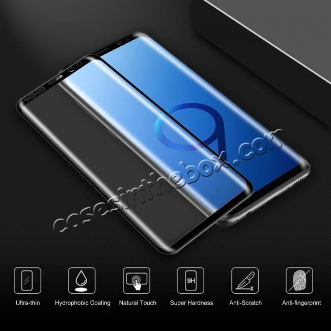 cheap Tempered Glass 3D Curved Full Coverage HD Ultra Clear 9H Hardness Film Screen Protector For Samsung Galaxy S9