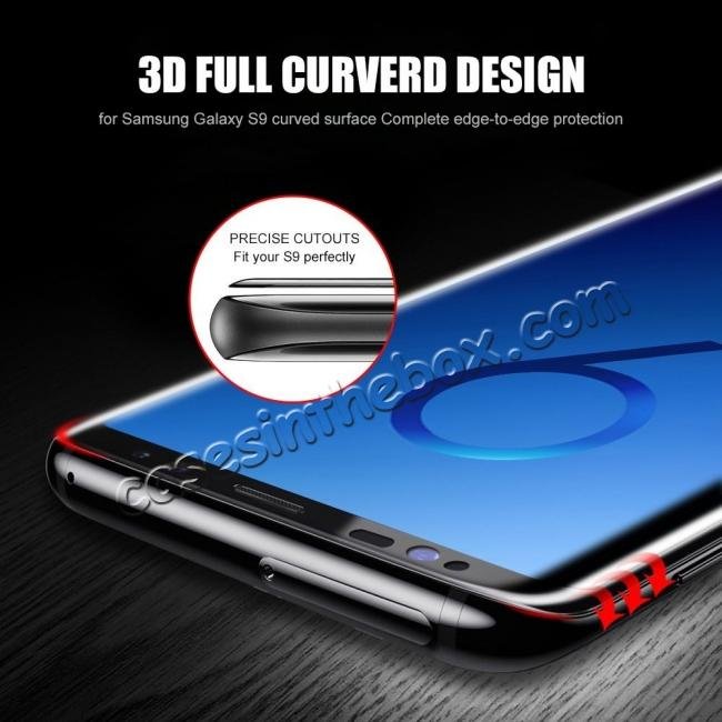 best price Tempered Glass 3D Curved Full Coverage HD Ultra Clear 9H Hardness Film Screen Protector For Samsung Galaxy S9