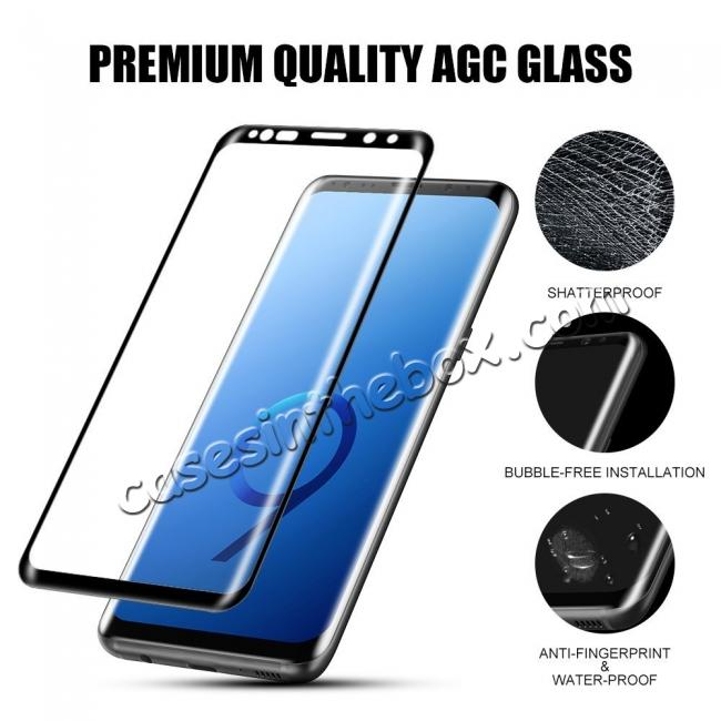 discount Tempered Glass 3D Curved Full Coverage HD Ultra Clear 9H Hardness Film Screen Protector For Samsung Galaxy S9