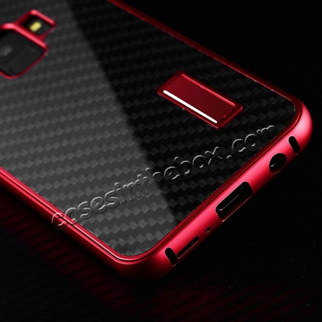 cheap Aluminium Metal Frame + Carbon Back Cover Case For Samsung Galaxy S9 Plus