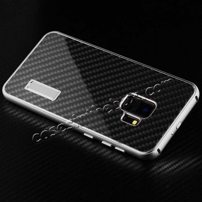 on sale Aluminium Metal Frame + Carbon Back Cover Case For Samsung Galaxy S9 Plus