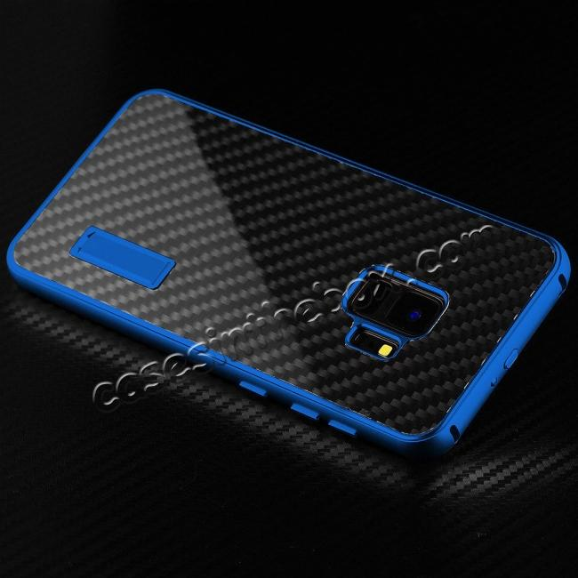 low price Aluminium Metal Frame + Carbon Back Cover Case For Samsung Galaxy S9 Plus