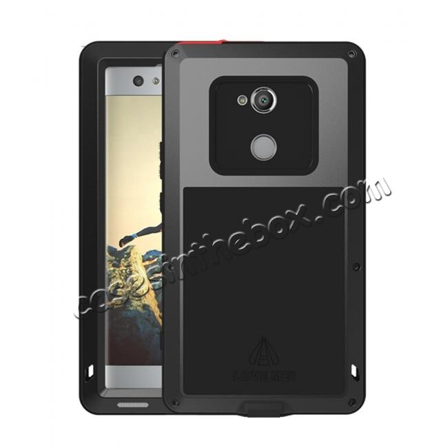 wholesale Aluminum Extreme Shockproof Weather Dust/Dirt Proof Resistant Case For Xperia XA2 Ultra - Black