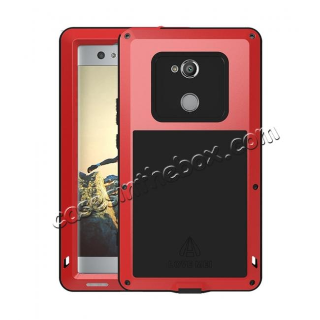 wholesale Aluminum Extreme Shockproof Weather Dust/Dirt Proof Resistant Case For Xperia XA2 Ultra - Red
