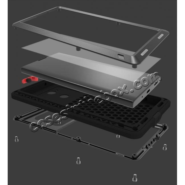 low price Aluminum Extreme Shockproof Weather Dust/Dirt Proof Resistant Case For Xperia XA2 Ultra - Red