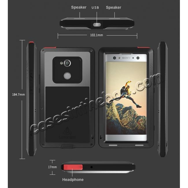 discount Aluminum Extreme Shockproof Weather Dust/Dirt Proof Resistant Case For Xperia XA2 Ultra - Red