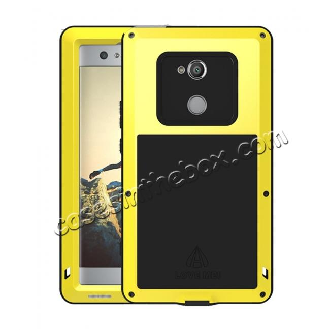 wholesale Aluminum Extreme Shockproof Weather Dust/Dirt Proof Resistant Case For Xperia XA2 Ultra - Yellow