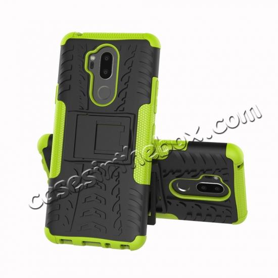 discount Case For LG G7 ThinQ Rugged Armor Shockproof Hybrid Kickstand Phone Cover - Green