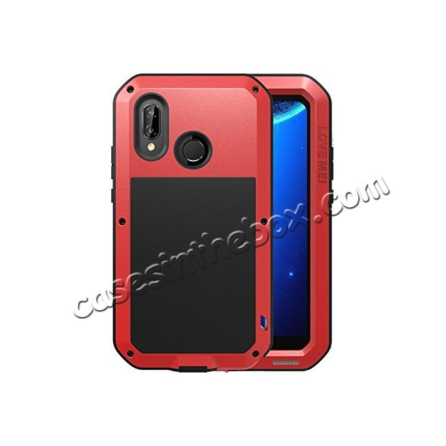 wholesale Metal Armor Shockproof Case Aluminum Cover For HUAWEI P20 Lite - Red