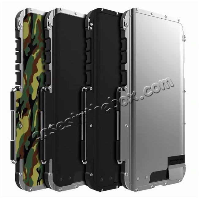top quality R-JUST Aluminum Metal Shockproof Full Cover Case For Samsung Galaxy S9 Plus - Black
