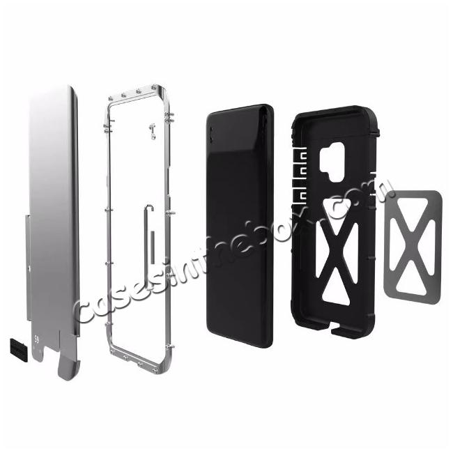 cheap R-JUST Aluminum Metal Shockproof Full Cover Case For Samsung Galaxy S9 Plus - Black