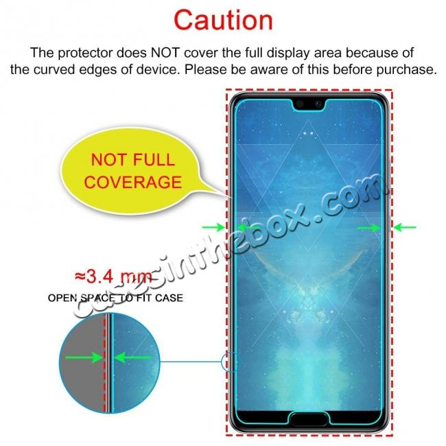 best price Tempered Glass Not Full Coverage HD Clear Glass Screen Protector for Huawei P20