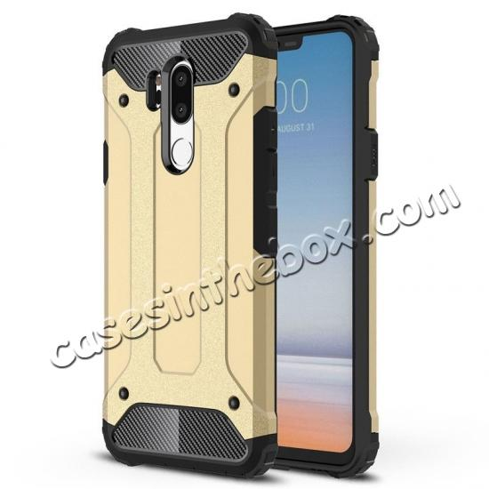 wholesale Full Slim Rugged Dual Layer Heavy Duty Hybrid Protection Case for LG G7 ThinQ - Gold