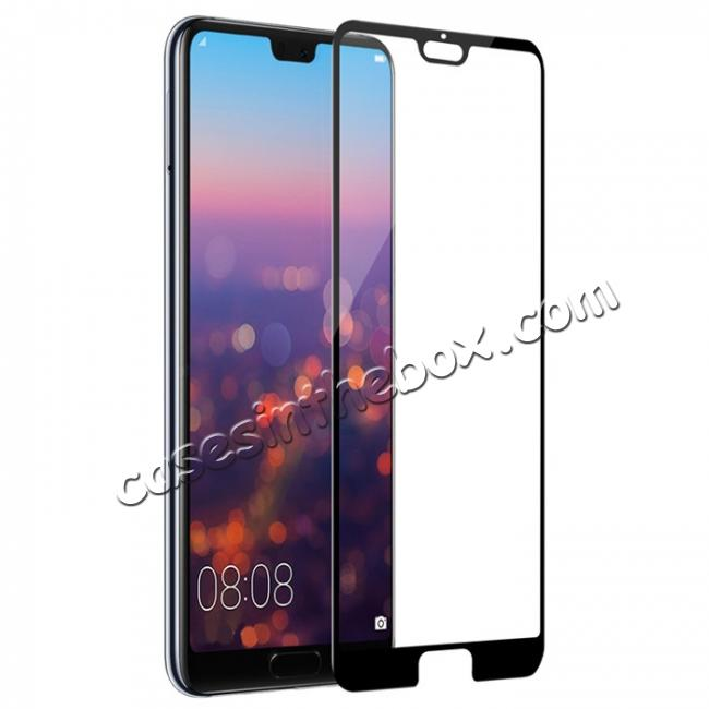 top quality NLLKIN 3D CP+ MAX Full coverage Anti-explosion Tempered Glass Screen Protector for Huawei P20