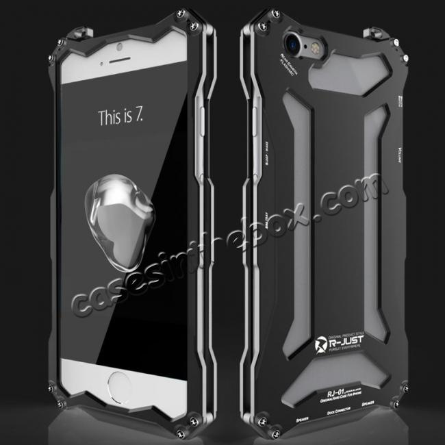 best price R-JUST Full Aluminum Metal Shockproof Phone Case for iPhone 5 5S IPhone 6 6S iPhone 7 7 Plus 8 8 Plus iPhone X + FREE SHIPPING