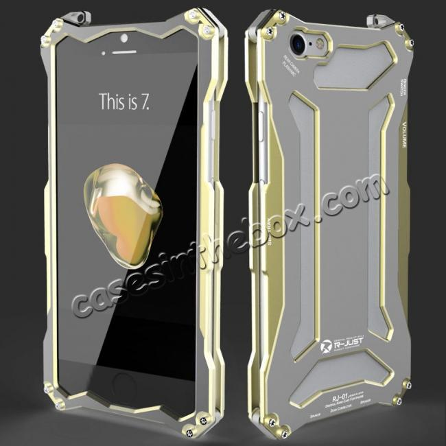 high quanlity R-JUST Full Aluminum Metal Shockproof Phone Case for iPhone 5 5S IPhone 6 6S iPhone 7 7 Plus 8 8 Plus iPhone X + FREE SHIPPING