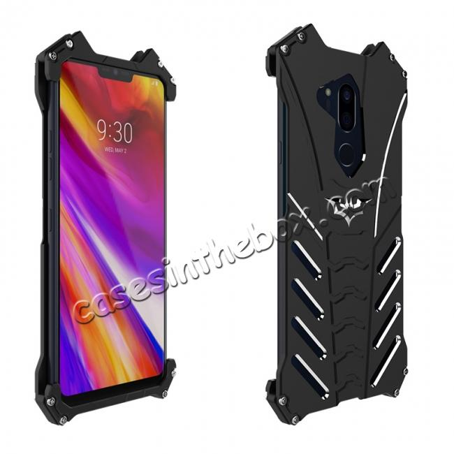 discount R-JUST Shockproof Aluminum Metal Case for LG G7 - Black