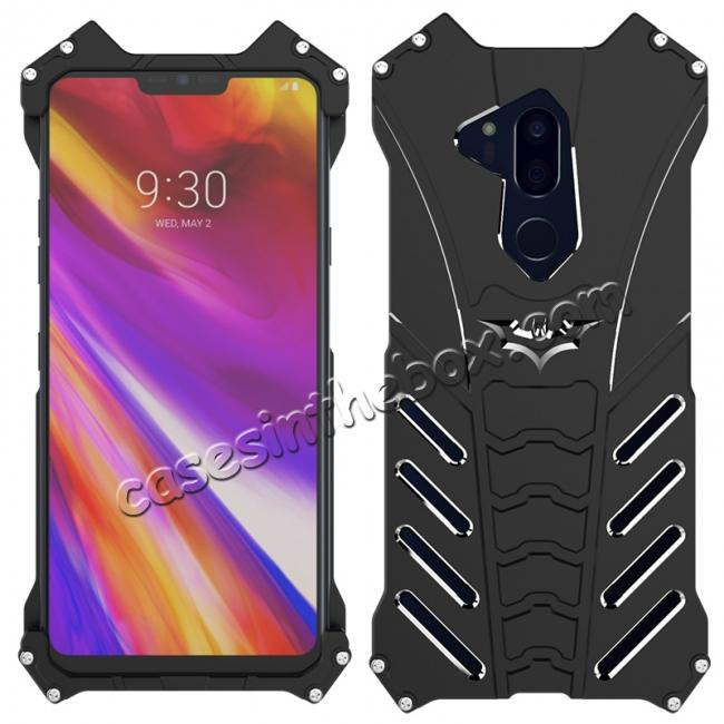 wholesale R-JUST Shockproof Aluminum Metal Case for LG G7 - Black