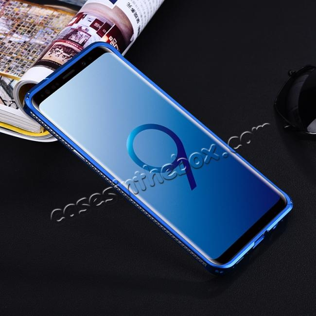 low price Shockproof Aluminum Metal Bumper Stand Case for Samsung Galaxy S9