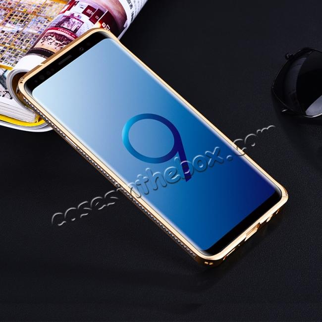 discount Shockproof Aluminum Metal Bumper Stand Case for Samsung Galaxy S9