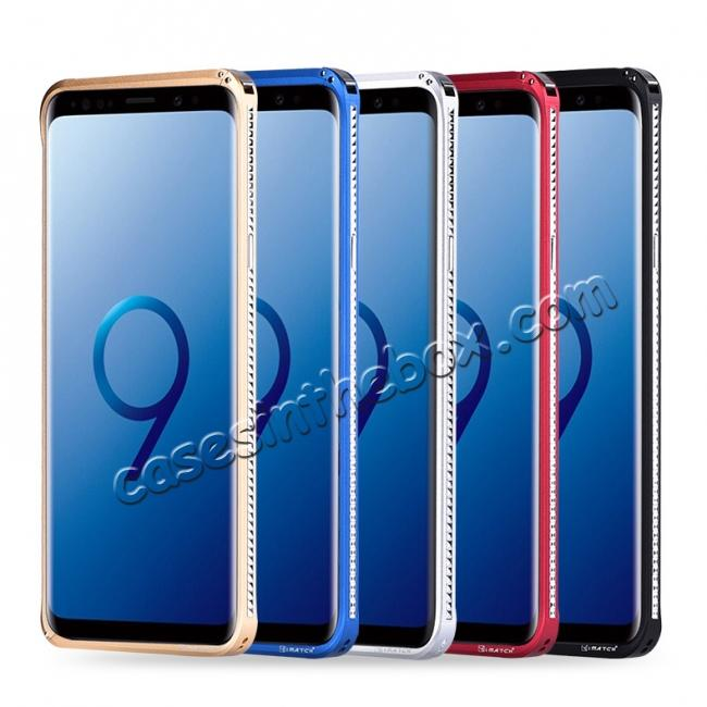 wholesale Shockproof Aluminum Metal Bumper Stand Case for Samsung Galaxy S9