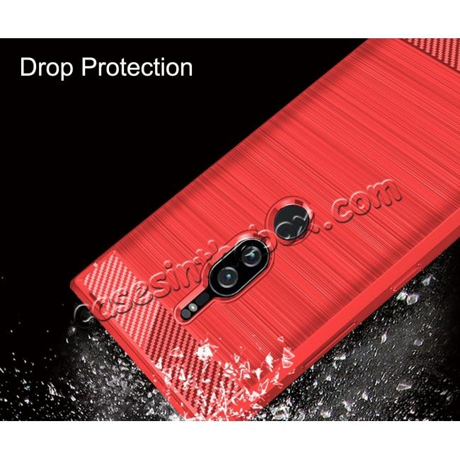 top quality Slim Flexible TPU Case Anti-slip Anti-Scratch Protective Case for Sony Xperia XZ2 Premium - Red