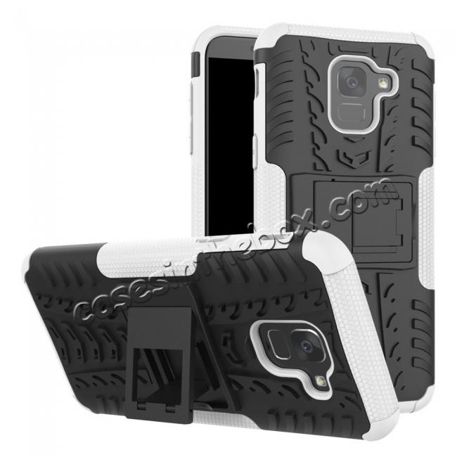 top quality For Samsung Galaxy J6 Rugged Armor Shockproof Hybrid Kickstand Case Cover