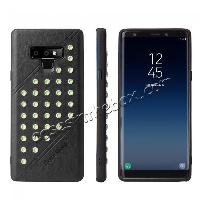 wholesale For Samsung Galaxy Note 9 Ultra-thin Star Soft TPU Leather Back Cover Case - Black