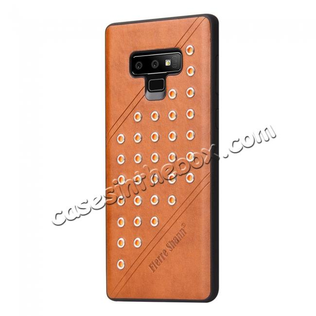 cheap For Samsung Galaxy Note 9 Ultra-thin Star Soft TPU Leather Back Cover Case - Brown