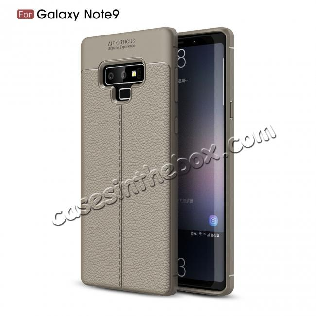 high quanlity For Samsung Note 9 Litchi Grain Carbon Fiber Shockproof Soft Case Cover