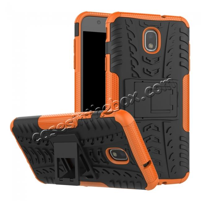 wholesale Rugged Armor Shockproof Protective Kickstand Phone Case For Samsung Galaxy J3 (2018) - Orange