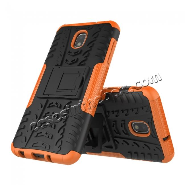 discount Rugged Armor Shockproof Protective Kickstand Phone Case For Samsung Galaxy J3 (2018) - Orange