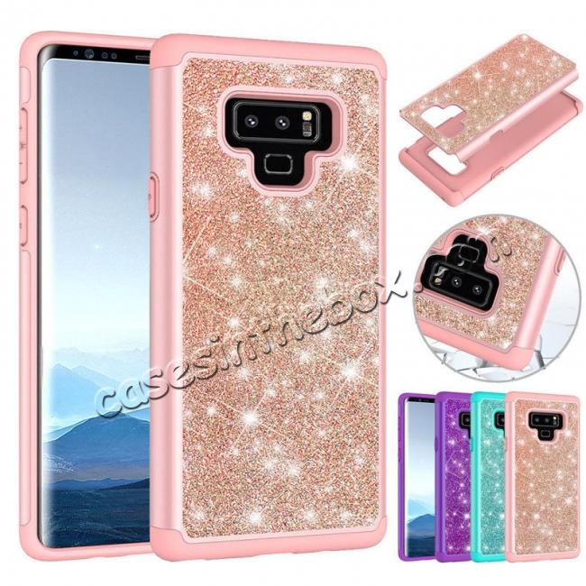 wholesale For Samsung Galaxy Note 9 Hybrid Rugged Armor Hard Rubber Case Shockproof Cover