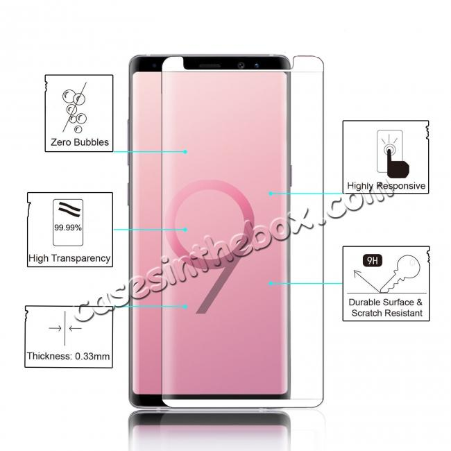 low price For Samsung Galaxy Note 9 3D 9H Full Cover Tempered Glass Screen Protector Film
