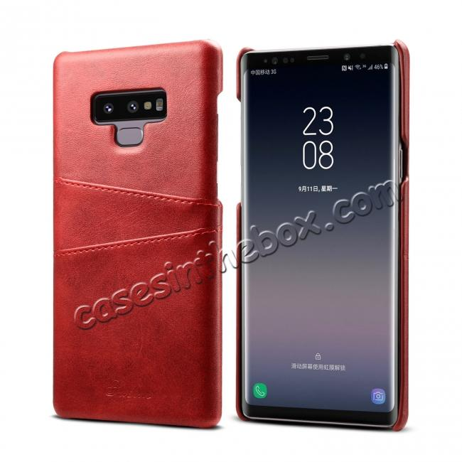 on sale Case For Samsung Galaxy Note 9 Shockproof Leather Card Slot Back Cover